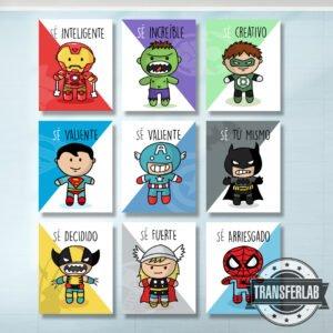 Colección frases superhéroes